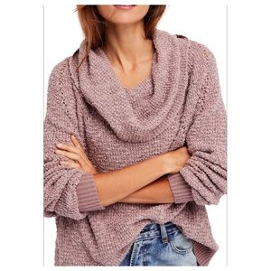 Free People By Your Side Slouchy Sweater Mauve XS